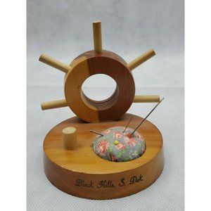 Wood nautical Sailor Pin Cushion black hills